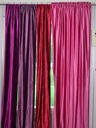 Hotham Red And Purple Plain Ready Made Eyelet Blackout Velvet