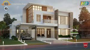 elevation home design tampa floor plan and elevation of 4 bedroom modern flat roof house by