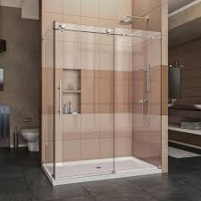 glass shower sliding doors square shower doors showers the home depot