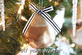 DIY Glitter Pear Christmas Ornament From the Dollar Tree