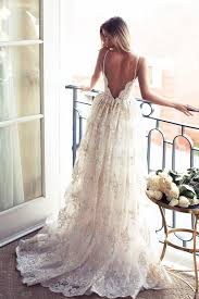 backless wedding dress vintage spaghetti straps backless wedding dress