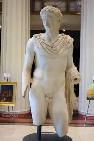statue of a greek god or hero roman 54 68 ad marble cincinnati
