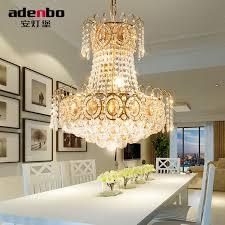 Crystal Light Fixtures Dining Room - aliexpress com buy modern gold led chandelier lighting fixture