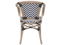 Zuo Outdoor Furniture by Zuo Outdoor Paris Aluminum Wicker Dining Arm Chair In Black