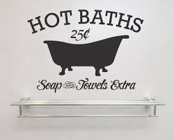 baths soap and towels extra removable vinyl wall art vintage