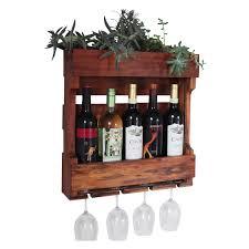 ceiling or wall mount wooden wine rack hayneedle