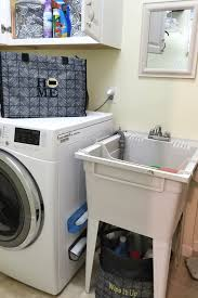 Laundry Room Storage Bins by Laundry Room Makeover With Style Diy And Tips To Organization