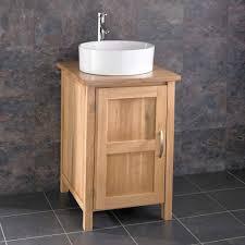 Wooden Vanity Units For Bathroom by Solid Oak Bathroom Vanity Unit Ohio Cm Wide Single Door Solid Oak