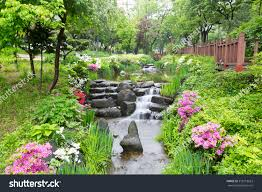 beautiful gardens flowers seoul south korea stock photo 518318623