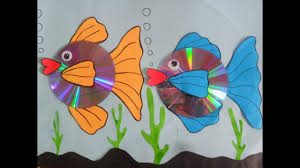 how to make gold fish using paper u0026 cd youtube