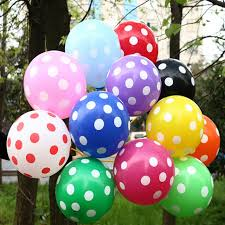 polka dot balloons balloon 50psc lo thick polka dot balloons 2 8g of high