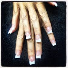 flare sided nails acrylic nails pink and white acrylic natural