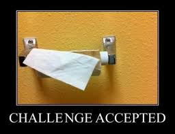 Chalenge Accepted Meme - a challenge accepted toilet paper