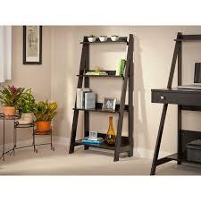 Sauder Ladder Bookcase by Sauder Trestle 3 Shelf Bookcase Jamocha Wood Hayneedle