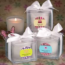 personalized candle favors sweet 16 or 15 personalized candle favors