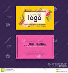 cute floral pattern business card name card design stock vector