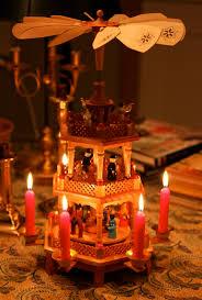 impressive german decorations wooden tree lights