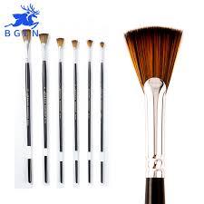 fan brush oil painting bgln nylon hair fan brush professional oil paint brush hand painted