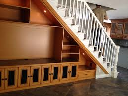 solution for open space under staircase this is double sided with