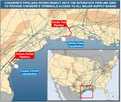 Map Of Usa With Interstates by Cheniere Pipelines Cheniere Energy