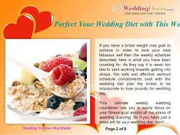 Wedding Planning Schedule Perfect Your Wedding Diet With This Weekly Schedule