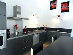cuisine noir et gris deco cuisine noir cuisine adorable deco cuisine noir et gris idées