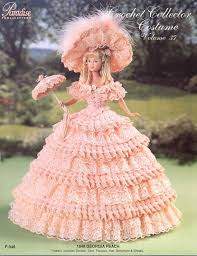 Vintage Crochet Pattern Pdf Fashion by Pdf Crochet Barbie Peach Dress Barbie Gown Crochet Ebook
