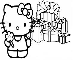 kitty christmas coloring pages ngbasic