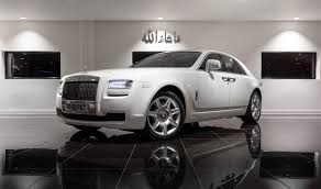 rolls royce ghost white platinum executive travel