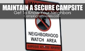 Secure Your Valuable Items With - a secure campsite protects valuables from theft camping for foodies
