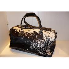 Cowhide Overnight Bag Hide Weekender Bags