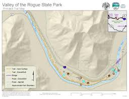 map of oregon state parks valley of the rogue state park printable trail map oregon state