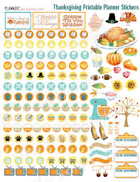 thanksgiving planners stickers happy thanksgiving