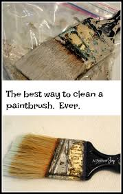 The Best Way To Clean How To Clean A Really Gunky Paintbrush And Keep It Clean