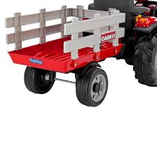 peg perego 12 volt case ih magnum tractor with trailer red target