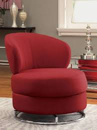 living room elegant red fabric swivel chairs with stainless steel