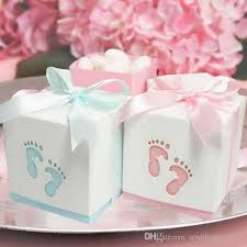 baby shower ribbon pterry cut out candy boxes with satin ribbon for baby shower