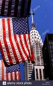 Old Flag Usa Usa New York Manhattan Chrysler Building Flag Art Deco Skyscraper