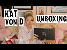 kat von d shade and light vault kat von d studded obsession vault collection unboxing youtube