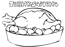 turkey dinner coloring page coloring book