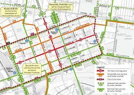 melbourne tram map yarra trams tram improvement works on elizabeth