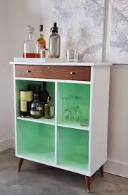 Retro Bar Cabinet White Retro Bar Cabinet With Vintage Oil Painting Vignette