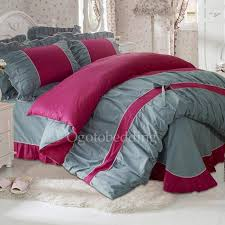 Pink And Gray Comforter Clearance Fuchsia Pink And Gray Cute Comforter Sets Full