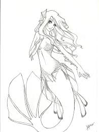 anime mermaid coloring pages 30 mermaid coloring pages