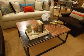 vintage french travertine and marble coffee table mecox gardens