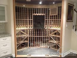 glass door wall glass enclosed wine cellars genuwine cellars