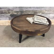 Mango Wood Coffee Table Small Circular Wood Industrial Coffee Table Rustic Furniture Outlet