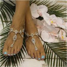 barefoot sandals for wedding wedding barefoot sandals gold foot jewelry