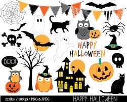 spooky clipart halloween clipart haloween owl clip art bunting spider