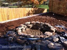 How To Build A Stone by How To Build A Stone Fire Pit Fire Pit Ideas